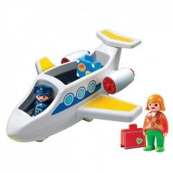 Playmobil 1.2.3. 6780 Avion de Ligne