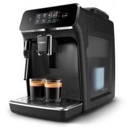 PHILIPS EP2221/40 Machine à café Espresso Automatique - Broyeur Grains - Series 2200 - Mousseur à lait - Noir Laqué