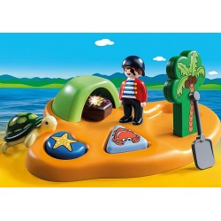 Playmobil 1.2.3 9119 île de pirate