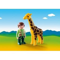 Playmobil 9380 Soigneur avec girafe