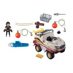 Playmobil 9364 Véhicule amphibie et bandit