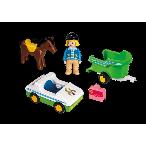 Playmobil 70181 Cavalière avec voiture et remorque