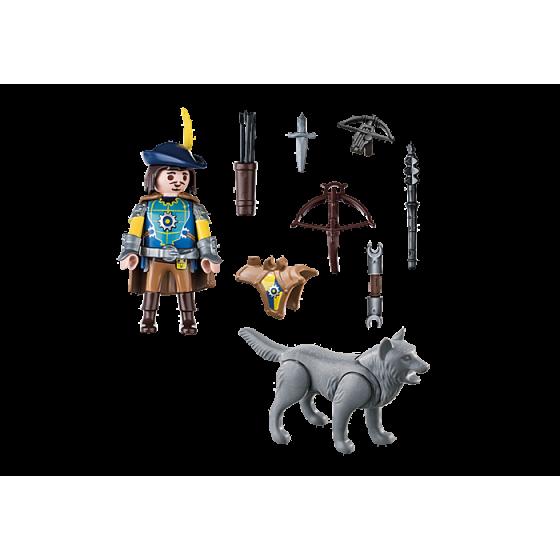 Playmobil 70229 Arbalétrier Novelmore et loup