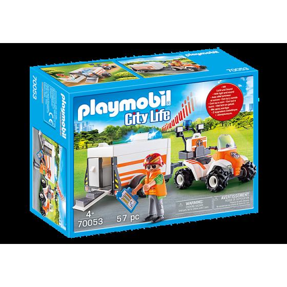 Playmobil 70053 Quad et remorque de secours