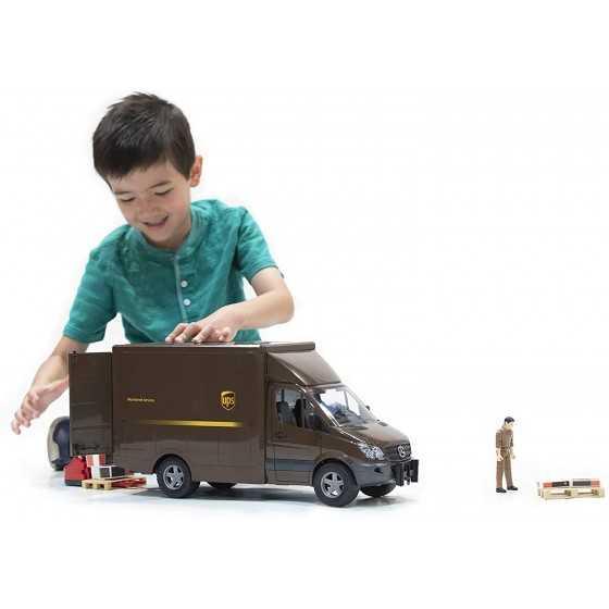 BRUDER - 02538 - Camion Mercedes Benz Sprinter UPS avec personnage et accessoires