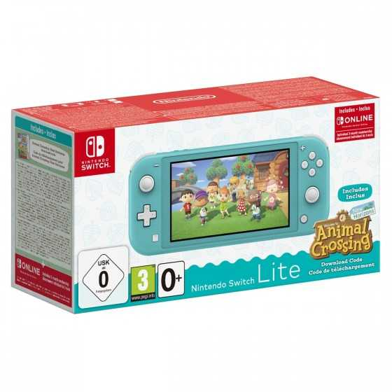 PACK Nintendo Switch Lite Animal Crossing + Super Mario 3D World