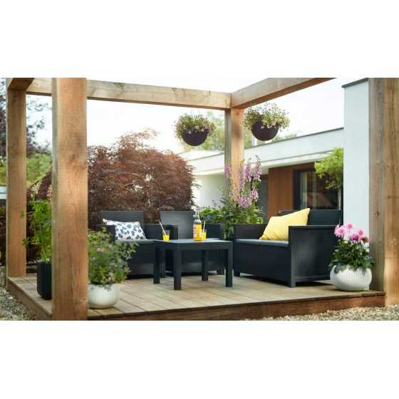 Keter Ensemble de Jardin 4 Places Graphite