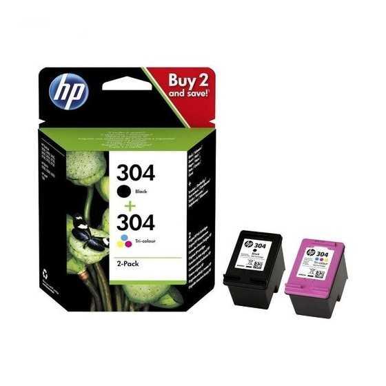 Cartouche d'encre HP 304 Noire + 3 couleurs