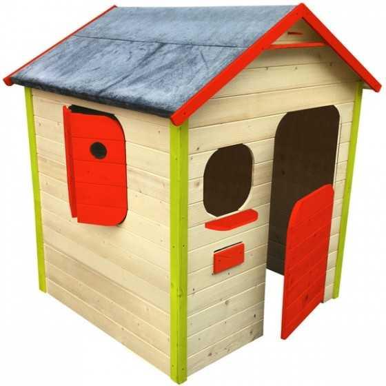 Maison Fidji colorée en bois