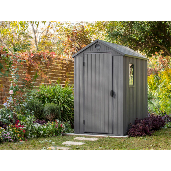 Abri de jardin résine Keter Darwin anthracite, 2,32 m² ép.16 mm