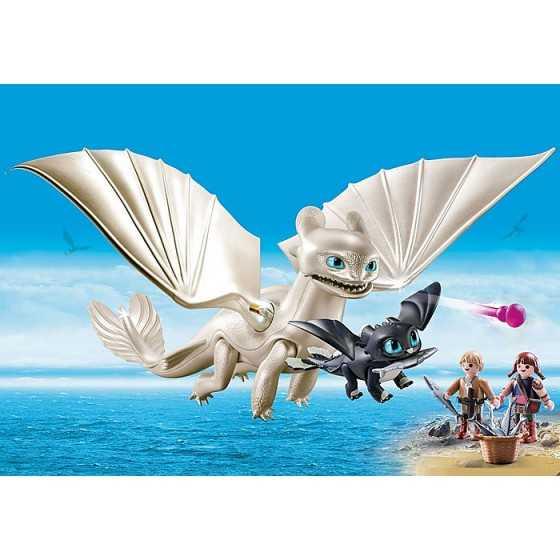 Playmobil 70038 Furie Éclair et bébé dragon avec les enfants