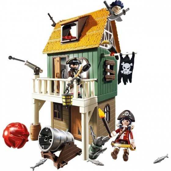 Playmobil 4796 Fort des pirates camouflé avec Ruby