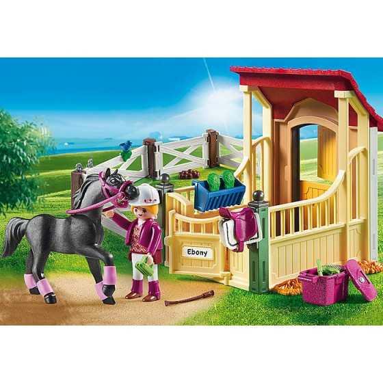 Playmobil 6934 Box avec cavalière et pur-sang Arabe