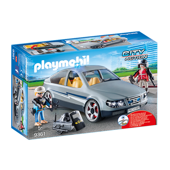 Playmobil 9361 Voiture banalisée avec policiers en civil