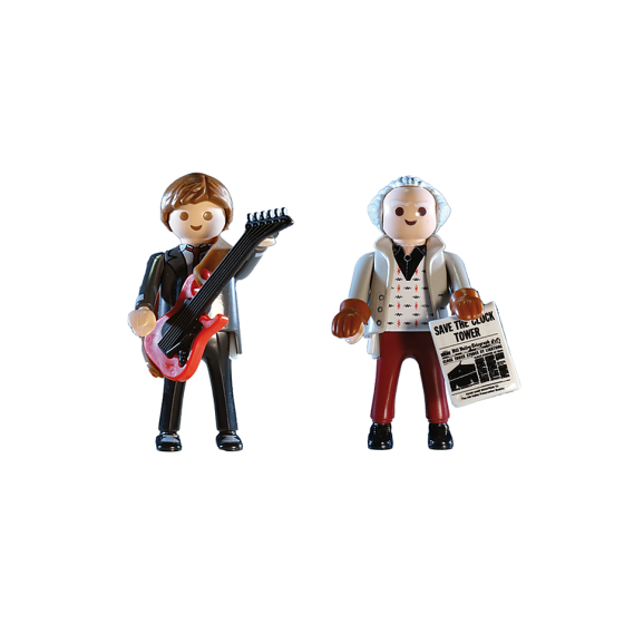 Playmobil 70459 Back to the Future Marty Mcfly et Dr. Emmett Brown