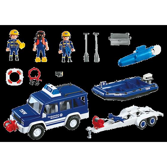 Playmobil 4087 Secouristes avec voiture et bateau