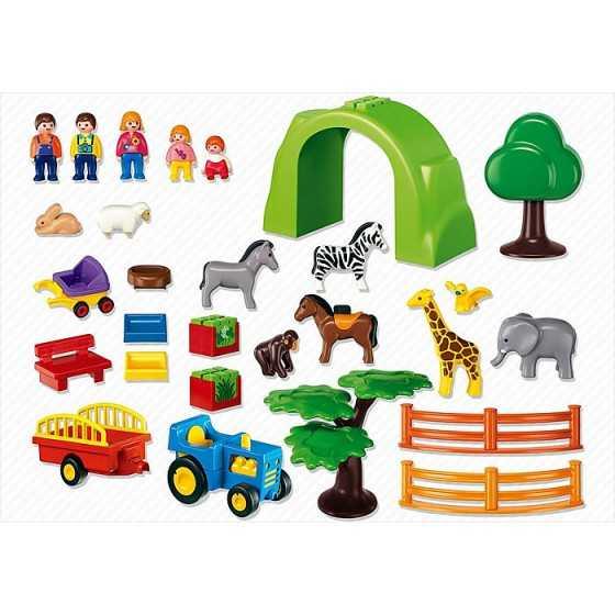 Playmobil 6754 Coffret Grand zoo 1.2.3