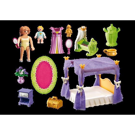 Playmobil 6851 Chambre de la reine avec lit à baldaquin