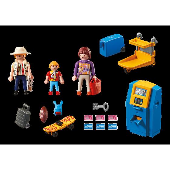Playmobil 5399 Famille de vacanciers et borne d'enregistrement