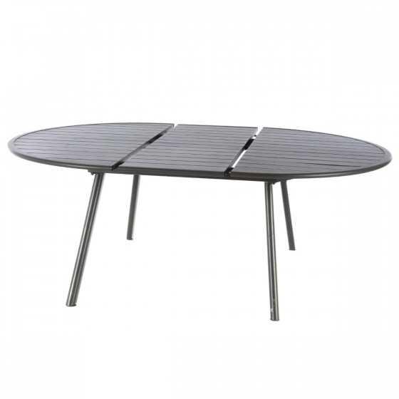 Table de jardin extensible ovale Aluminium - BLANCHE