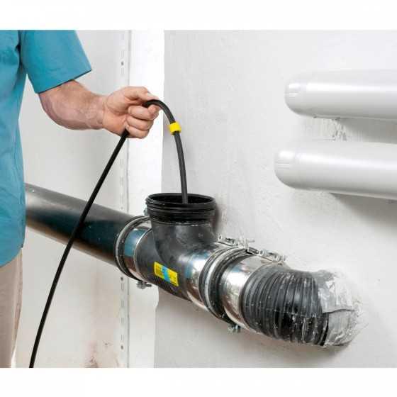 KARCHER Nettoyeur Haute Pression K3 Home & Pipe - 120 Bars avec déboucheur de canalisation 7.5m
