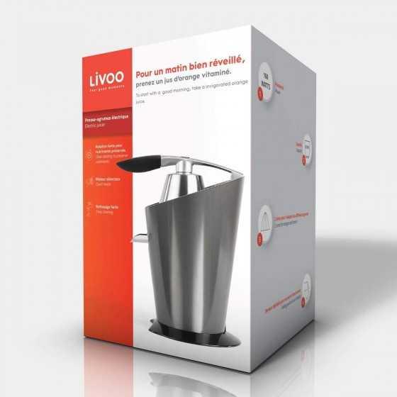 LIVOO DOD164 Presse-agrumes électrique - 160W - Réservoir 0,37 L - Gris
