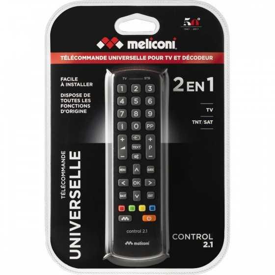 Télécommande universelle Control 2.1 à infrarouge Noir MELICONI