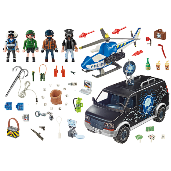 Playmobil 70575 Camion de bandits et policier