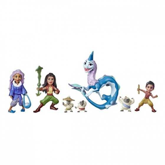 7 mini-figurines Histoire de Kumandra - Raya et le dernier dragon
