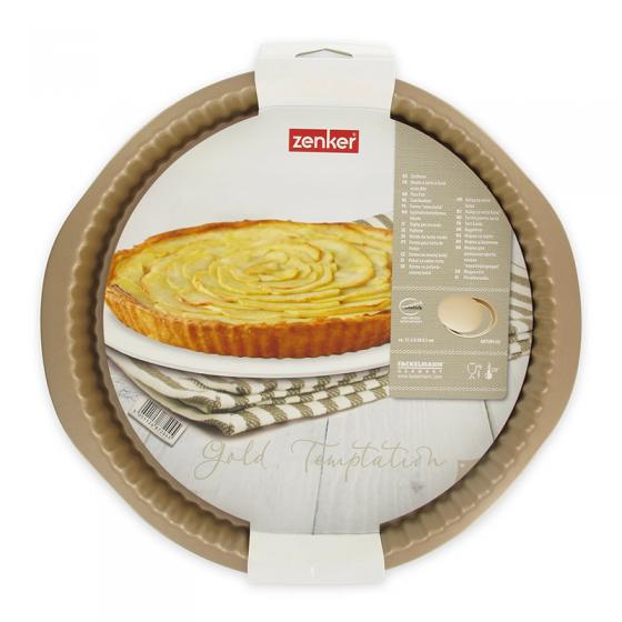 Moule à tarte doré fond amovible 30 cm