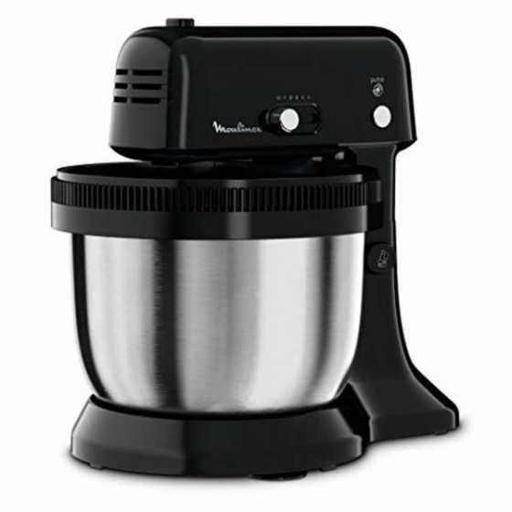 Moulinex Cake Mixer QA110810 - 300W - 5 vitesses - Bol inox 4L - Rotation automatique - Compact