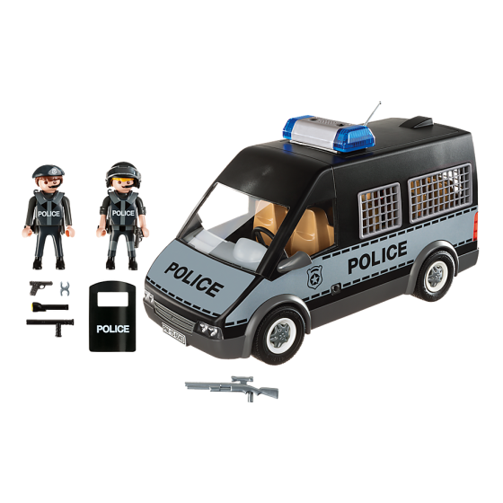 Playmobil 6043 Fourgon de police avec sirène et gyrophare