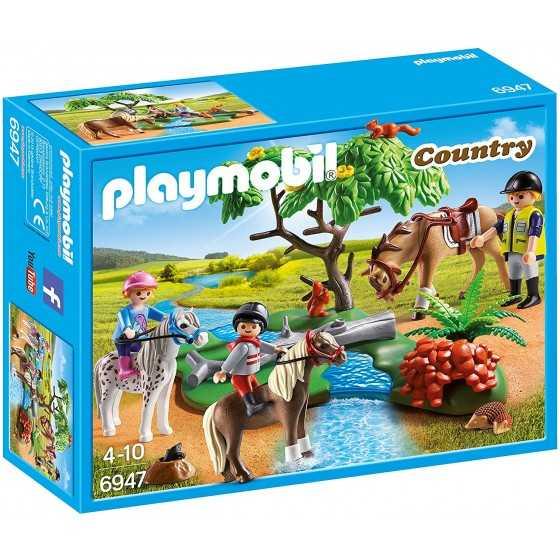 Playmobil 6947 Cavaliers avec Poneys et Cheval