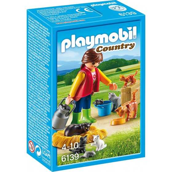 Playmobil 6139 Soigneur avec chats