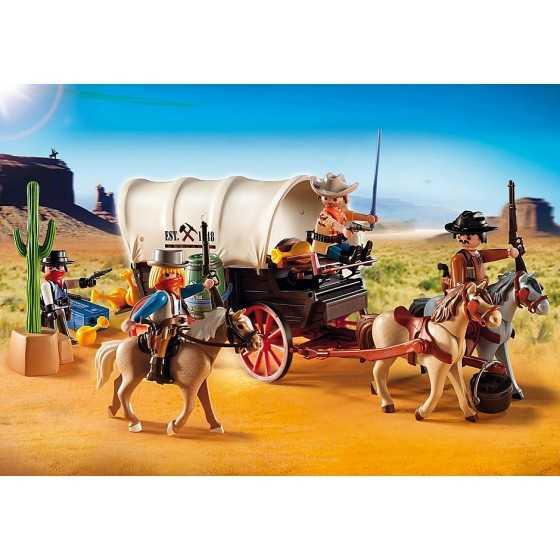 Playmobil 5248 Chariot avec cow-boys et bandits