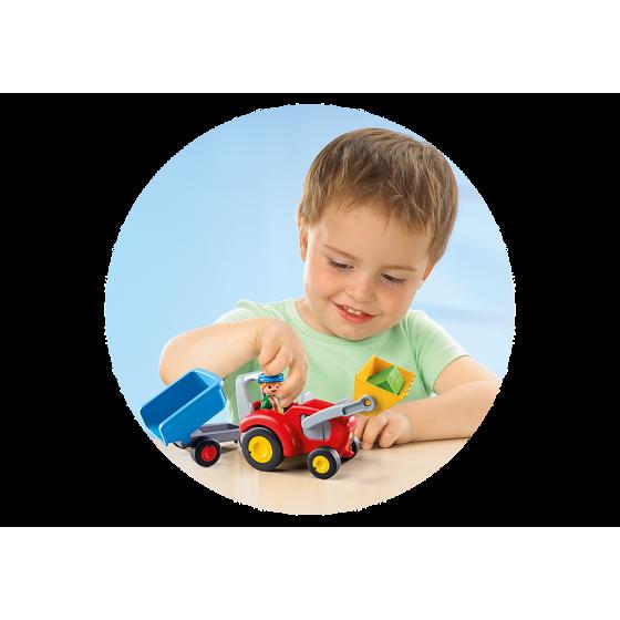 Playmobil 6964 Fermier avec tracteur et remorque