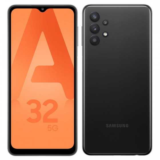 SAMSUNG Smartphone Galaxy A32 5G 128 Go 6.5 pouces Noir Double NanoSim