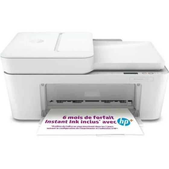 Imprimante HP tout-en-un jet d'encre couleur - DeskJet Plus 4110e - Idéal pour la famille - 6 mois d'Instant Ink inclus avec HP+