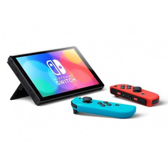 Console Nintendo Switch (modèle OLED) Joy-Con Bleu et Rouge