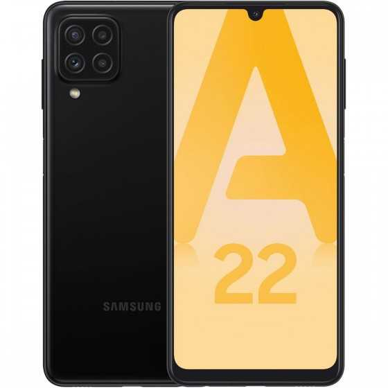 SAMSUNG Galaxy A22 4G 64 Go 6.4 pouces Noir Double Nano Sim