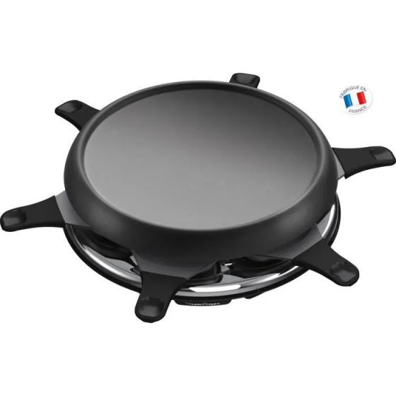 MOULINEX RE151812 Appareil à raclette multifonctions plancha et crêpes 6 Personnes Noir