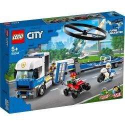 LEGO® City 60244 Le transport de l'hélicoptère de la police