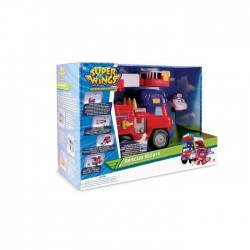 Camion Pompier Super Wings Transformable Rescue Riders + 1 figurine Zoey