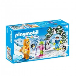 Moniteur de ski avec enfants - Playmobil® - Family Fun - 9282