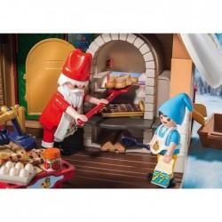 PLAYMOBIL 9493 - Christmas - Atelier de biscuit du Père Noël avec moules