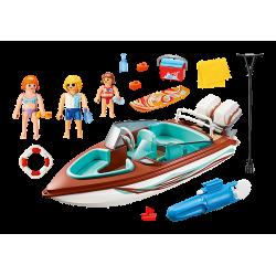 Playmobil 9428 Vacanciers avec vedette et moteur submersible