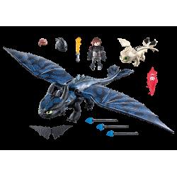 Playmobil 70037 Krokmou et Harold avec un bébé dragon
