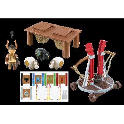 Playmobil 9461 Gueulfor avec baliste lance-mouton