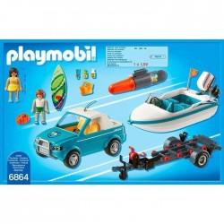Playmobil 6864 Voiture avec Bateau et Moteur Submersible