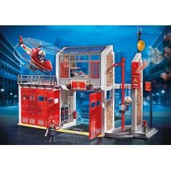 Playmobil 9462 Caserne de pompiers avec hélicoptère